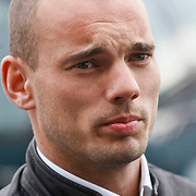 NLD/Noordwijk/20110207 - Aankomst Nederlands elftal in hotel voor oefeninterland Nederland - Oostenrijk, Wesely Sneijder