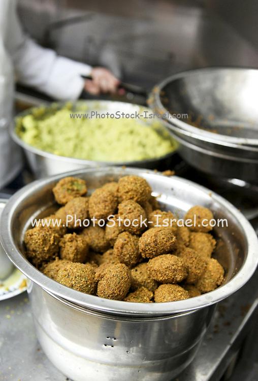Fresh falafel balls - deep fried ground chickpea