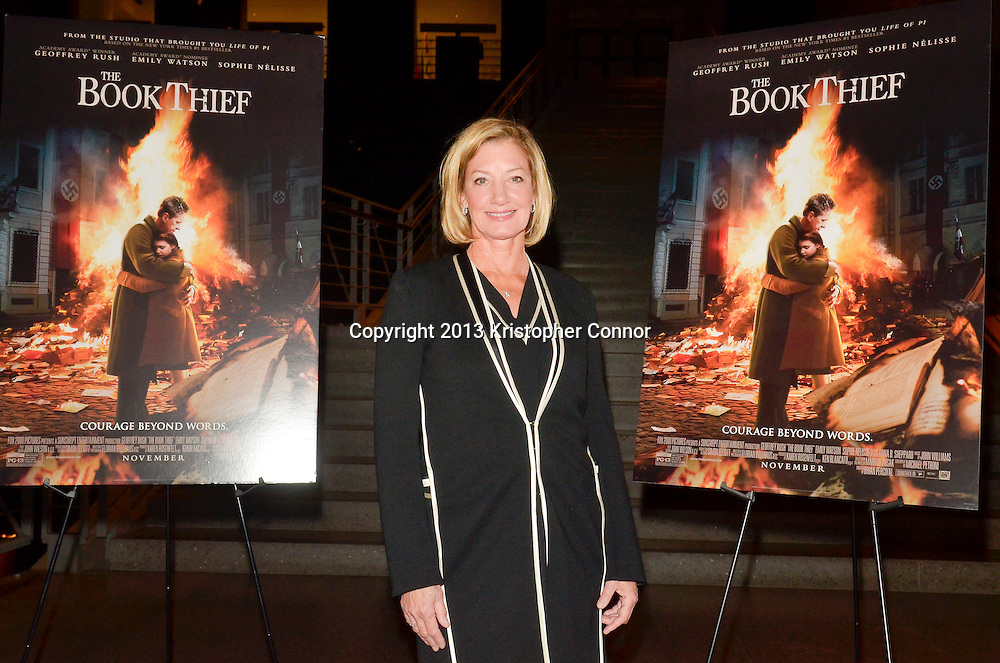 """WASHINGTON, DC - NOVEMBER 7: President of 20th Century Fox Elizabeth Gabler attends the premiere of """"The Book Thief,"""" sponsored by the US Holocaust Museum at the United States Holocaust Memorial Museum on November 7, 2013 in Washington, DC. (Photo by Kris Connor/20th Century Fox)"""