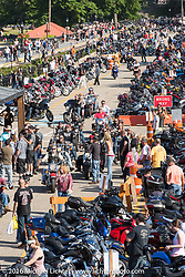 Lakeside Avenue in Weir's Beach during Laconia Motorcycle Week 2016. Laconia, NH, USA. Saturday, June 18, 2016.  Photography ©2016 Michael Lichter.
