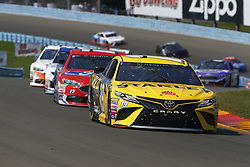 August 5, 2018 - Watkins Glen, New York, United States of America - Daniel Suarez (19) brings his car through the turns during the Go Bowling at The Glen at Watkins Glen International in Watkins Glen , New York. (Credit Image: © Chris Owens Asp Inc/ASP via ZUMA Wire)