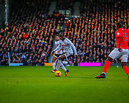 Sone Aluko of Fulham during the Sky Bet Championship match at Craven Cottage, London<br /> Picture by Richard Brooks/Focus Images Ltd 07947656233<br /> 02/01/2017
