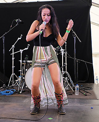 Party At The Palace, Linlithgow, Scotland, Saturday 13th August 2016<br /> <br /> Saraswati performs on the Star & Garter stage<br /> <br /> (c) Alex Todd | Edinburgh Elite media