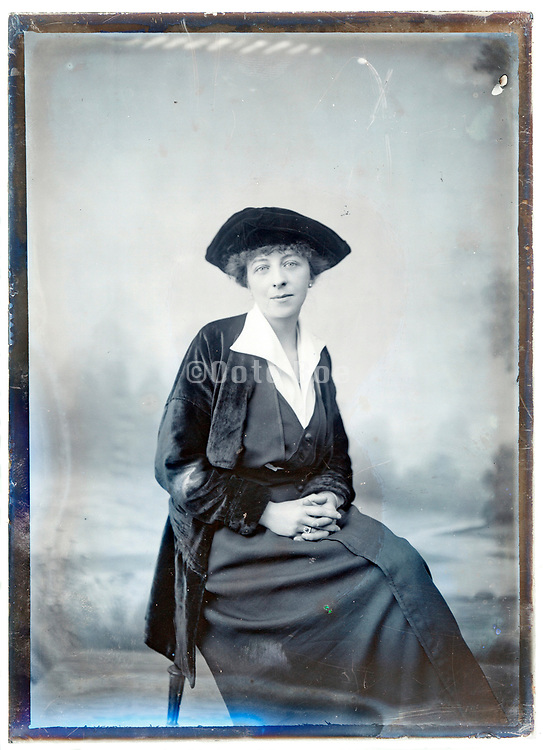 fashionable dressed adult woman portrait France about 1920s