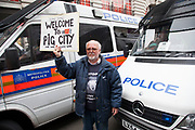 London, UK. Tuesday 11th June 2013. Protesters demonstrate against the upcoming G8 summit in central London, UK. Welcome to pig city.