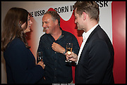 SARAH DOUGLAS; SIMON MILLS; MALCOLM YOUNG; , Born in the USSR, Design exhibition opening. Gallery Elena Shchukina, Beauchamp Place, Knightsbridge. London. 15 September 2014.