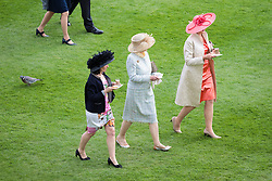 Guest attend at a garden party at Buckingham Palace in London.