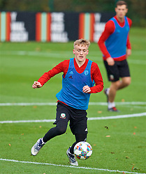 CARDIFF, WALES - Tuesday, November 13, 2018: Wales' Matthew Smith during a training session at the Vale Resort ahead of the UEFA Nations League Group Stage League B Group 4 match between Wales and Denmark. (Pic by David Rawcliffe/Propaganda)