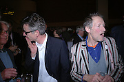 John Hegley and Michael Horowitz. Launch of the Poetry Archive. British Museum. London. 30 November 2005. ONE TIME USE ONLY - DO NOT ARCHIVE  © Copyright Photograph by Dafydd Jones 66 Stockwell Park Rd. London SW9 0DA Tel 020 7733 0108 www.dafjones.com
