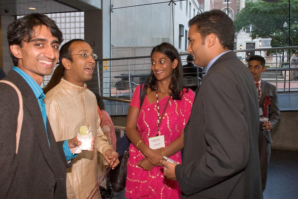 SAJA Award winner Arun Venugopal (India Abroad), SAJA Convention Chair Vikas Bajaj (New York Times), Sumathi Reddy (Baltimore Sun), and Sudeep Reddy (Dallas Morning News).