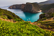 Picturesque beach on the west coast in Sardinia