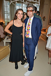 DUGGIE FIELDS and  LOLA ROSE THOMPSON at a party to celebrate the publication of 'A Girl From Oz' by Lyndall Hobbs held at Flat 1, 165 Cromwell Road, London on 12th May 2016.