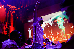 © Licensed to London News Pictures. 13/06/2021. London, UK. Football fans watch England's Euro 2020 opener against Croatia at The Clapham Grand entertainment venue in south London. Photo credit: David Cliff/LNP