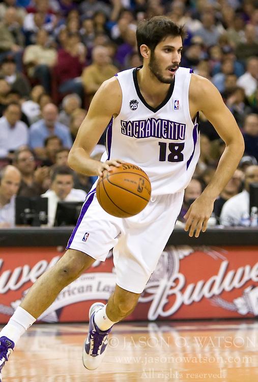 November 29, 2009; Sacramento, CA, USA;  Sacramento Kings forward Omri Casspi (18) during the first quarter against the New Orleans Hornets at the ARCO Arena. Sacramento defeated New Orleans 112-96.