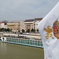 Hotel boats returned to river Danube after the COVID-19 restrictions were lifted in downtown Budapest, Hungary on Sept. 7, 2021. ATTILA VOLGYI