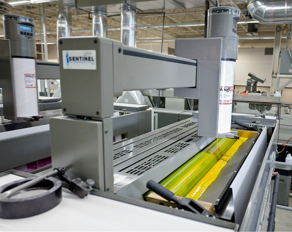 Large offset printers at Classic Graphics in Charlotte, NC.
