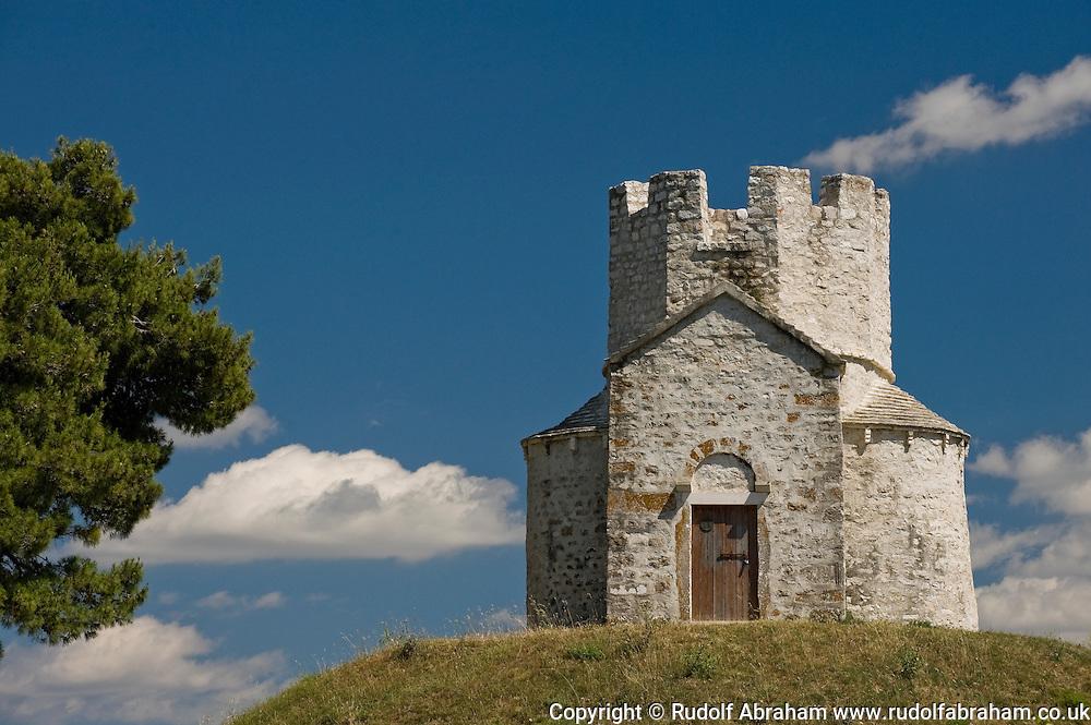 The small fortified church of St Nicholas (Sv Nikola), the coronation place of Croatian kings during the medieval period, near Nin, Croatia