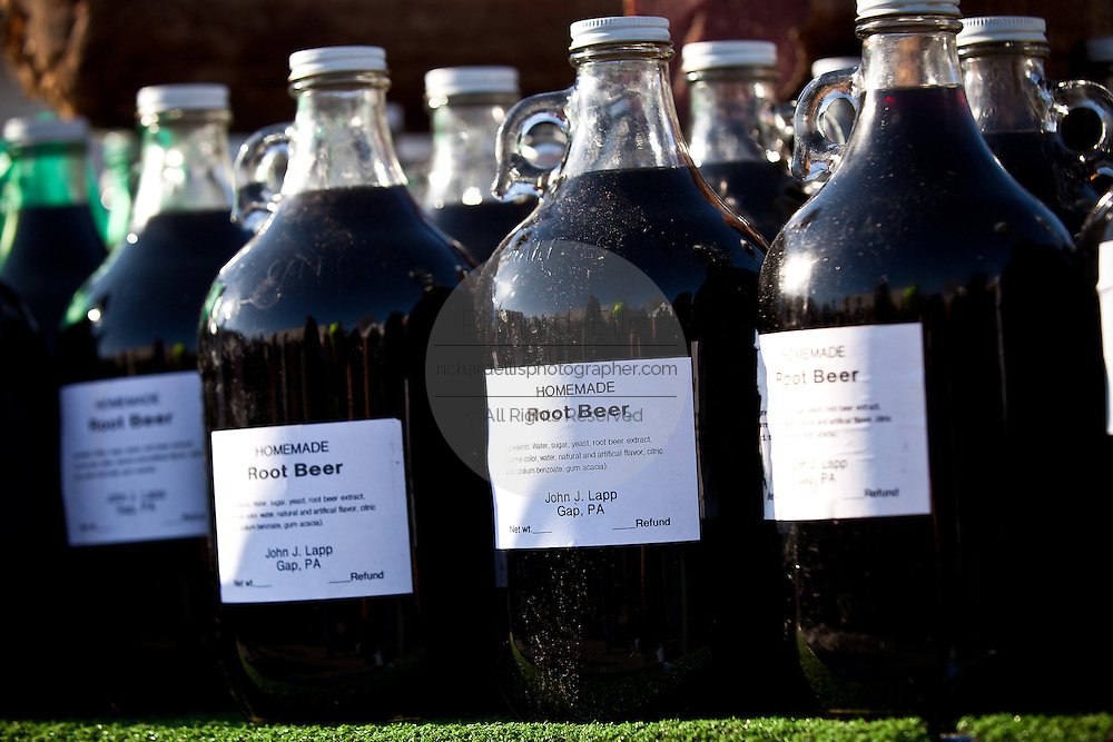 Amish made root beer at the Annual Mud Sale to support the Fire Department  in Gordonville, PA.