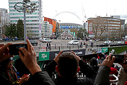 Fans take pictures from Wembley Park station  - Mandatory by-line: Matt McNulty/JMP - 26/02/2017 - FOOTBALL - Wembley Stadium - London, England - Manchester United v Southampton - EFL Cup Final