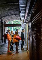 RIGA, LATVIA - CIRCA MAY 2014: People in the streets of Riga.