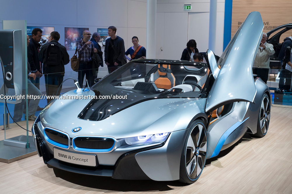 BMW electric i8 prototype car at Paris Motor Show 2012