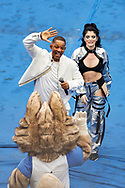 General view of the show with Era Istrefi, Will Smith during the closing ceremony before the 2018 FIFA World Cup Russia, final football match between France and Croatia on July 15, 2018 at Luzhniki Stadium in Moscow, Russia - Photo Tarso Sarraf / FramePhoto / ProSportsImages / DPPI