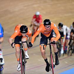 01-03-2020: Wielrennen: WK Baan: Berlijn<br />Jan Wil van Schip en Yoeri Havik werden vierden in de Madison