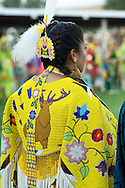 Womens Traditional  Dancer, Crow Fair, powwow, Crow Indian Reservation, Montana