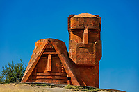 monument memorial statue we are our mountains landmark of Stepanakert Khankendi  Artsakh Nagorno-Karabakh Armenia eastern Europe