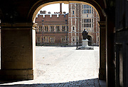 Entrance to courtyard of Eton College, Berkshire, England