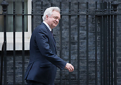 © Licensed to London News Pictures. 22/11/2017. London, UK. Brexit Secretary David Davis leaves Number 10 Downing Street after attending a pre-budget cabinet meeting. Photo credit: Peter Macdiarmid/LNP