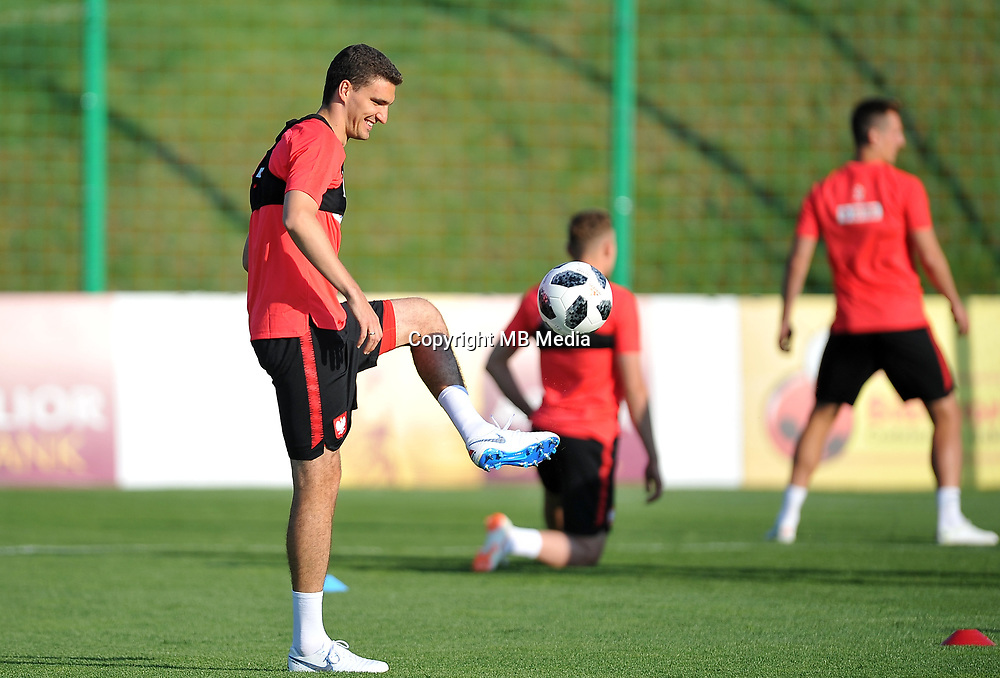 ARLAMOW, POLAND - MAY 31: Marcin Kaminski during a training session of the Polish national team at Arlamow Hotel during the second phase of preparation for the 2018 FIFA World Cup Russia on May 31, 2018 in Arlamow, Poland. (MB Media)