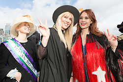 © Licensed to London News Pictures. 05/03/2017. LONDON, UK.  Natasha Bedingfield and Kate Nash join feminist activists take part in the March4Women, organised by CARE International to mark International Women's Day. The Women's Day March begins at The Scoop near City Hall, before proceeding over Tower Bridge and finishing at the Tower of London. Photo credit: Vickie Flores/LNP