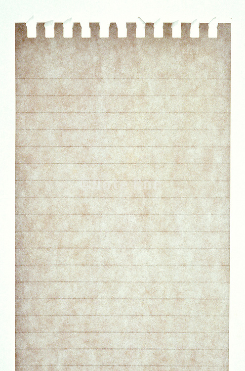 a single notepage with torn page