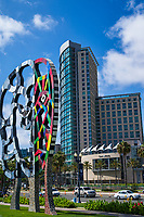 """Coming Together"" Sculpture & Omni Hotel"
