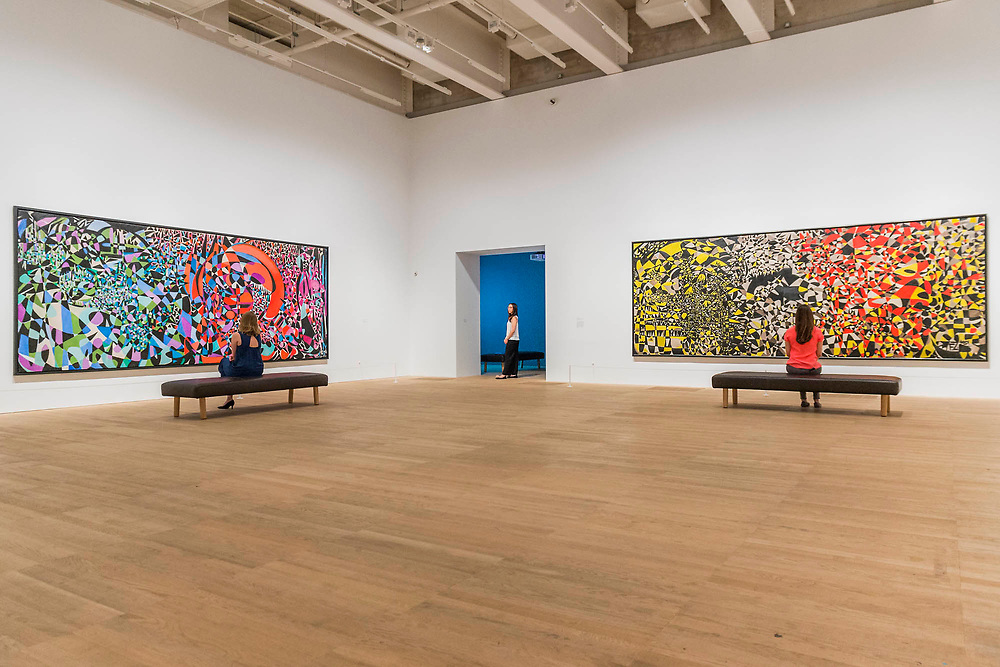 Break of the Atom and Vegetal Life, 1962, and My Hell, 1951 - Princess Fahrelnissa Zeid: the UK's first retrospective of a pioneering artist best known for her large-scale colourful canvases, fusing European approaches to abstract art with Byzantine, Islamic and Persian influences. The exhibition is at Tate Modern from 13 June – 8 October 2017.