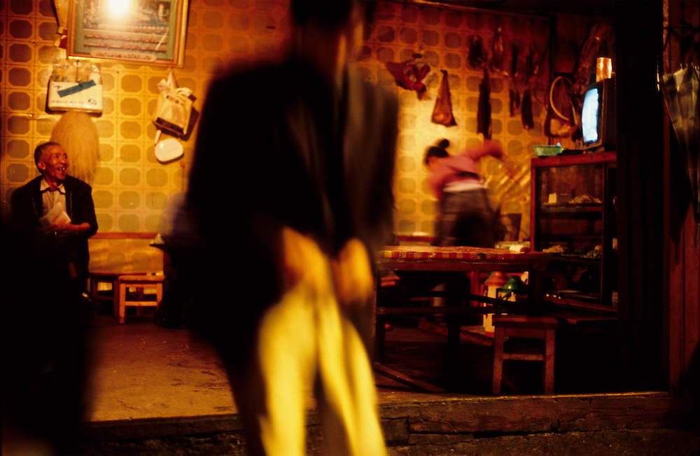 Open fronted restaurant, Yunnan Province, South West China.