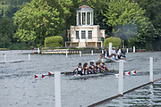 Henley. Berks, United Kingdom. <br /> <br /> Heat of the JW8+, Lady Eleanor Holles School, during the 2017 Henley' Women's Regatta. Rowing on, Henley Reach. River Thames. <br /> <br /> <br /> Saturday  17/06/2017<br /> <br /> <br /> [Mandatory Credit Peter SPURRIER/Intersport Images]