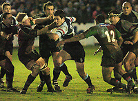 Photo: Ian Hebden.<br />Bedford Blues v Harlequins. National League Division 1.<br />03/12/2005.<br />Bedford's (C) George Harder tries to break the quins defence.