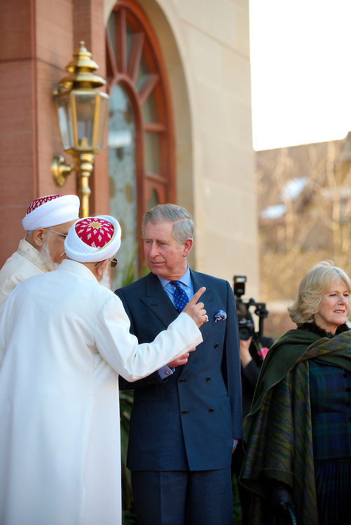 London Feb 4 HRH The Pince of Wales and HRH The Duchess of Cornwall at Dawoodi Bohra Mosque in London...Standard Licence feee's apply  to all image usage.Marco Secchi  tel +44 (0) 845 050 6211 .e-mail ms@msecchi.com .http://www.marcosecchi.com