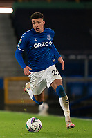 Football - 2020 / 2021 League Cup - Quarter-Final - Everton vs Manchester United - Goodison Park<br /> <br /> Everton Ben Godfrey in action during todays match  <br /> <br /> <br /> COLORSPORT/TERRY DONNELLY