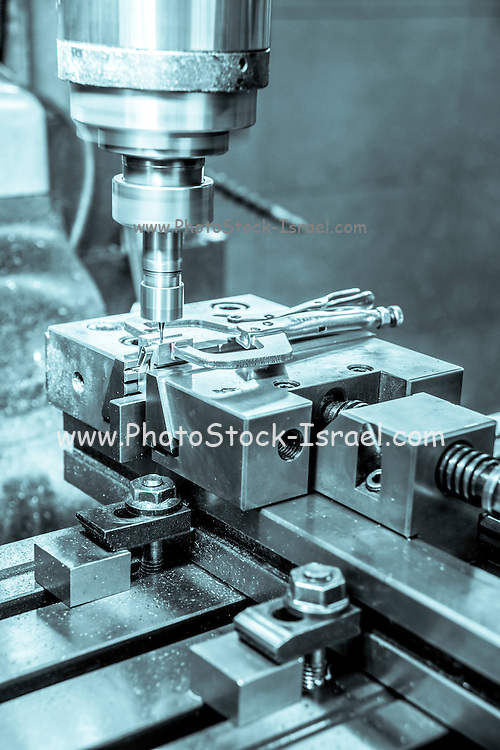 a Lathe Metal tooling shop floor