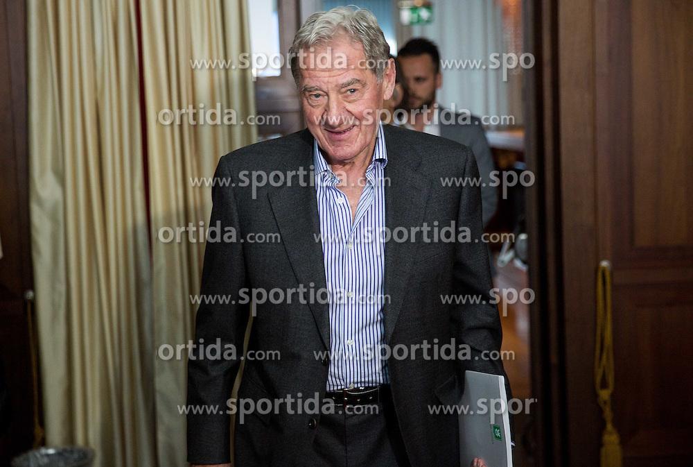 Milan Mandaric, president of Olimpija during presentation of a new head coach Mr. R. Vanoli of NK Olimpija, on April 22, 2016 in Austria Trend Hotel, Ljubljana, Slovenia. Photo by Vid Ponikvar / Sportida