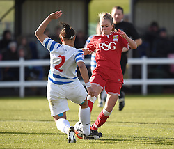 Millie Farrow of Bristol City Women in action during the FA Cup third round match between Bristol City Women and QPR Ladies at Stoke Gifford Stadium on 14 February 2016 in Bristol, England - Mandatory by-line: Paul Knight/JMP - Mobile: 07966 386802 - 14/02/2016 -  FOOTBALL - Stoke Gifford Stadium - Bristol, England -  Bristol Academy Women v QPR Ladies - FA Cup third round