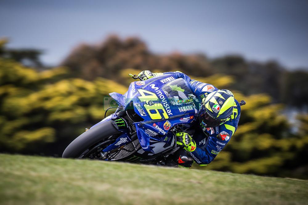 October 25, 2018 - Phillip Island, Australie - VALENTINO ROSSI - ITALIAN - MOVISTAR YAMAHA MotoGP - YAMAHA (Credit Image: © Panoramic via ZUMA Press)
