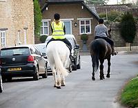 horse riding durung the coronavirus  lockdown