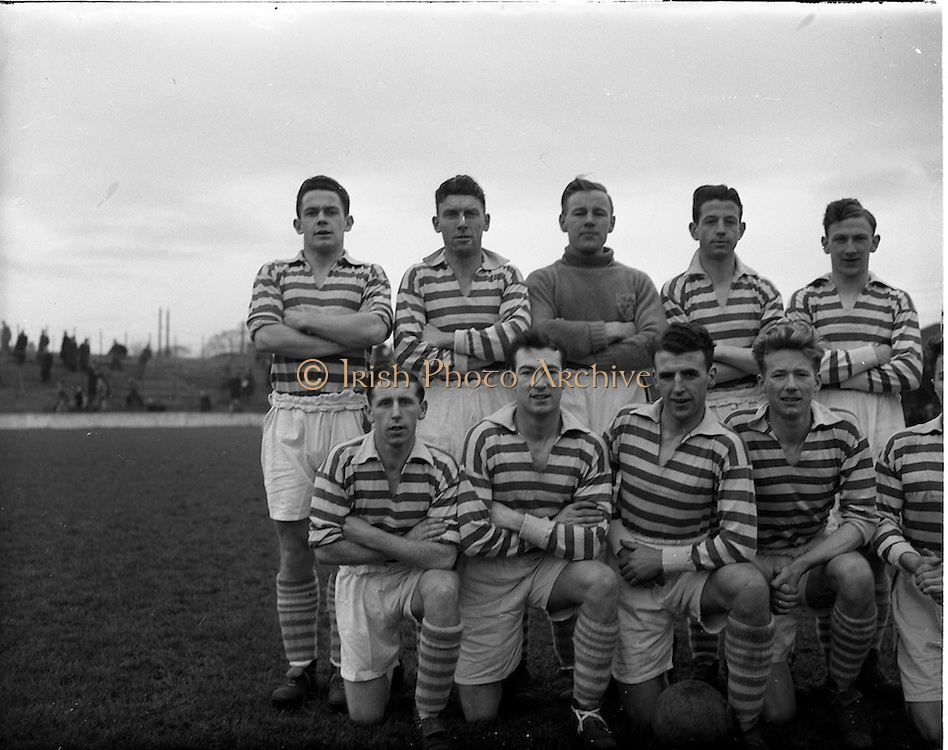 14/12/1952<br /> 12/14/1952<br /> 14 December 1952<br /> Shamrock Rovers v Waterford at Milltown Park, Dublin. The Shamrock Rovers team.