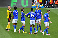 Football - 2019 / 2020 Premier League - Watford vs. Leicester City<br /> <br /> Players touch elbows at the end of the game, at Vicarage Road.<br /> <br /> COLORSPORT/ASHLEY WESTERN