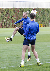 September 13, 2017 - Kiev, Ukraine - Dynamo Kyiv's player Domagoj Vida is seen during the training session in Kyiv, Ukraine, September 13, 2017. FC Dynamo Kyiv gets the last preparation before the game against Albanian Skenderbeu in the UEFA Europa League Group B opener. (Credit Image: © Sergii Kharchenko/NurPhoto via ZUMA Press)
