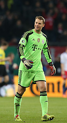 Football: Germany, DFB Cup<br /> Goalkeeper Manuel Neuer (FC Bayern Muenchen)